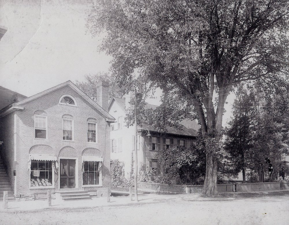 Photo of The Elm Tree Press and the Dana House.