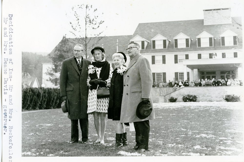 74-20.1 Dedication of Inn 1969 Rockefellers Mr. and Mrs. Deane Davis.jpg