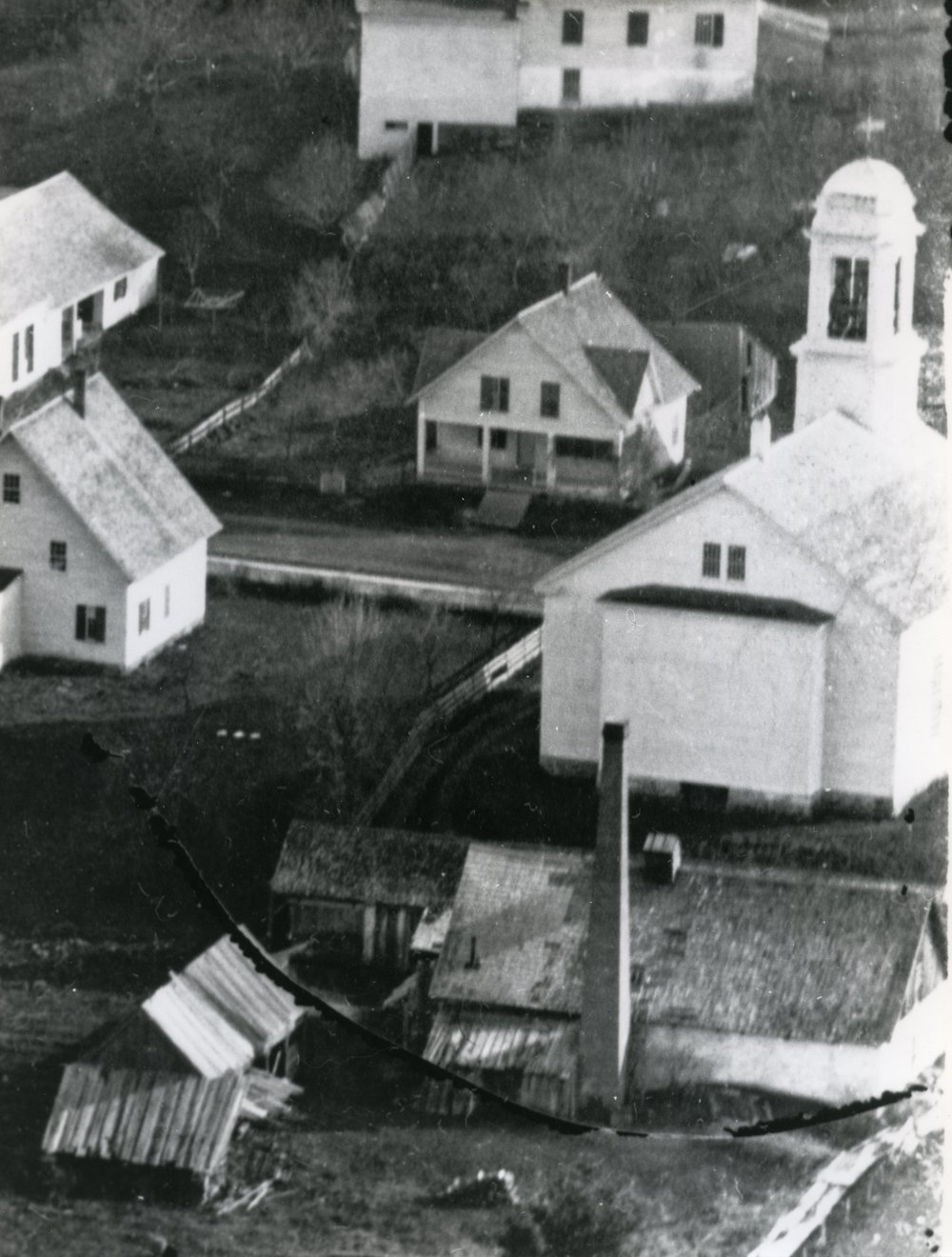 The photo above shows the gasplant in 1860 behind the UU Church.