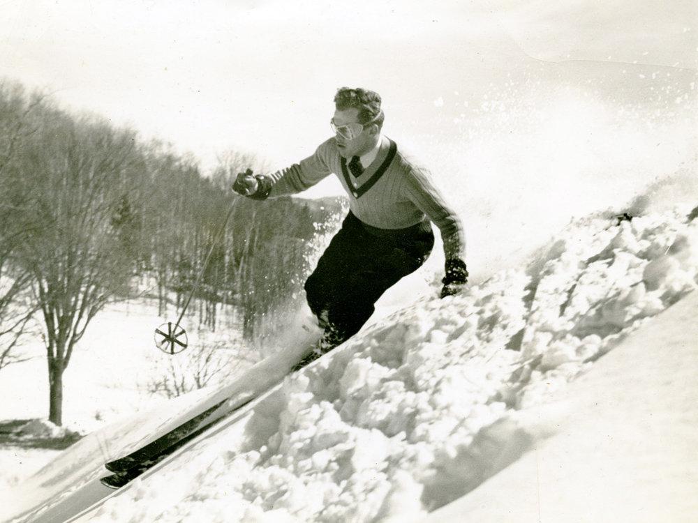 Skier enjoying the slopes