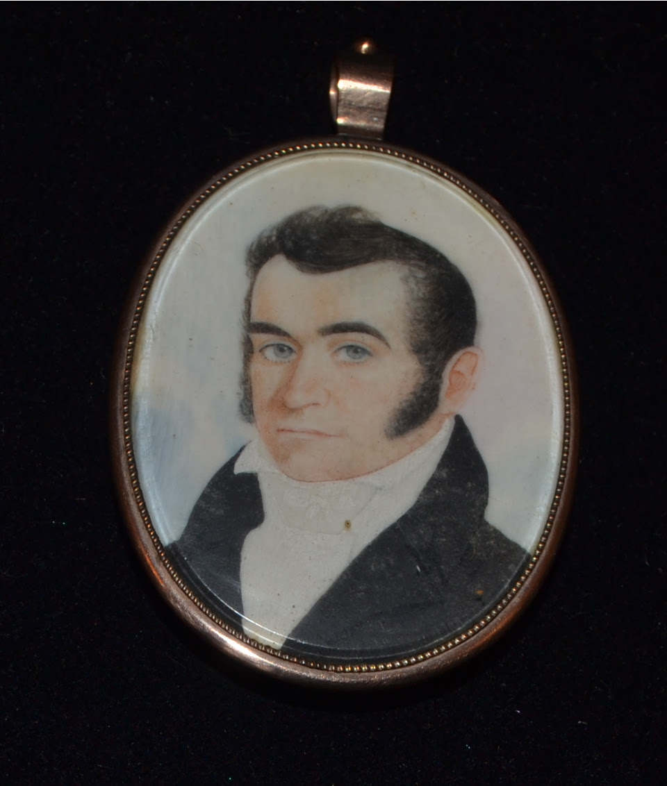 Miniature portrait of Dr. Joseph Gallup, from the Woodstock History Center's Collection.