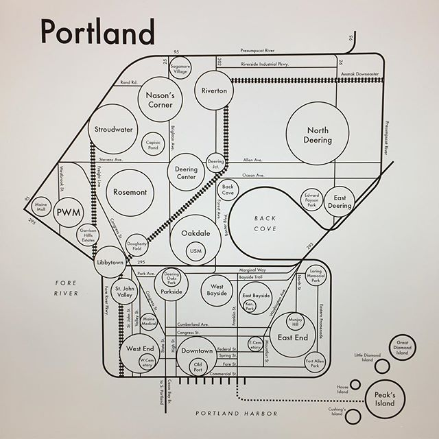 "Still making maps through these tense moments. Here's ""other Portland"", the largest city in Maine. Any thoughts?"