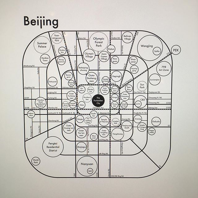 Working with Beijing native Li Han on this one and I am so impressed with how it's turning out! Expressing both the ring road system and all the important details. Any thoughts? Send them our way. Archie@archiespress.com