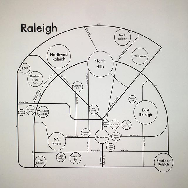 Are you from Raleigh? Do you have a friend from there? Please tag them! We need help with this one. Raleigh has grown exponentially over the past three decades and I can't tell what's a real neighborhood.