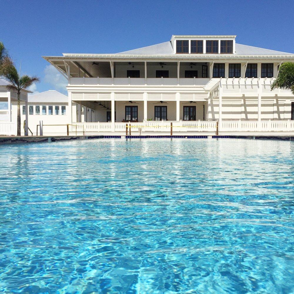 The pool at Mahogany Bay Village's Bay Club.