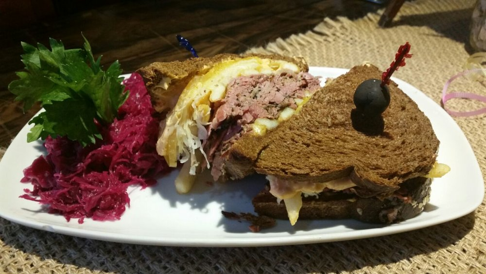Just one version of the Farm House Deli's reuben sandwich.