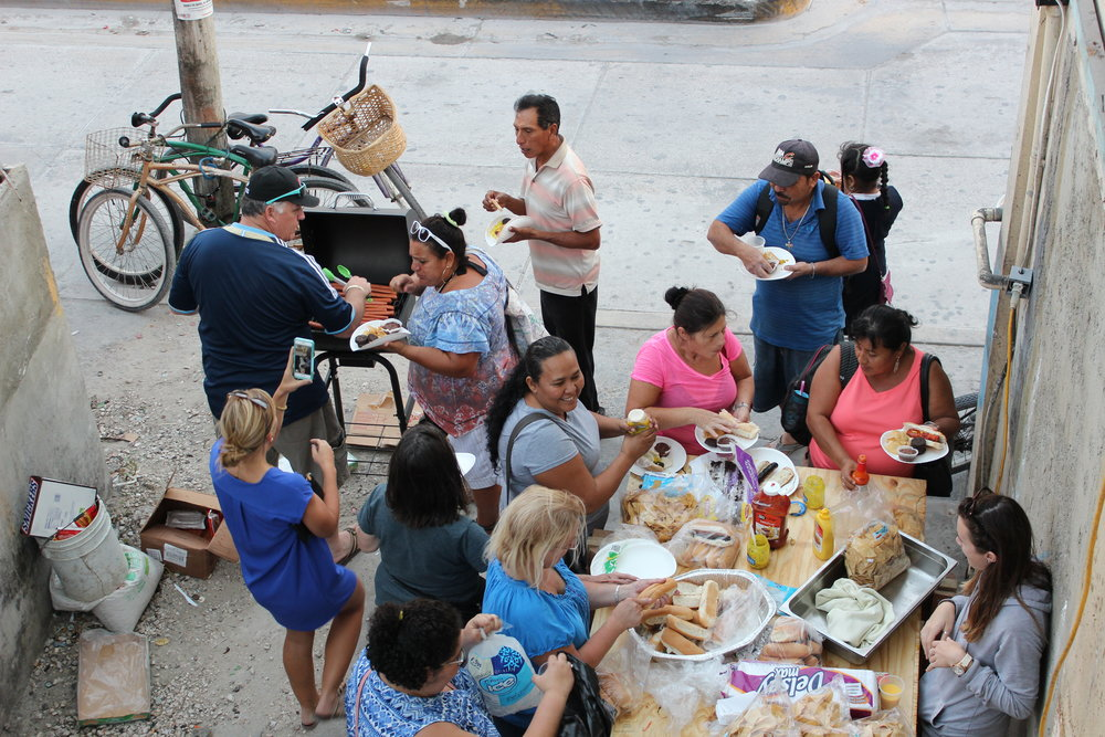 A neighborhood party put on by the ministry volunteers who are building Hope Haven.