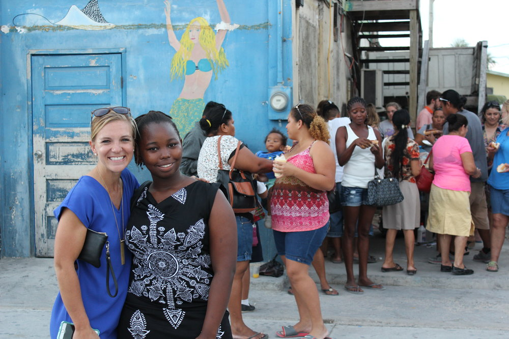 Britney Travis with a member of the SHINE high school program.