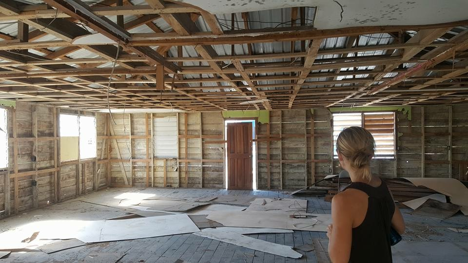 Britney Travis surveys the Hope Haven space in preparation for the construction job start.