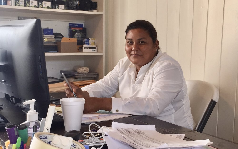 Eva Yah is the Project Manager for Caribbean Homes & Exports, responsible for daily supervision and direction of her all-male construction team of 70.