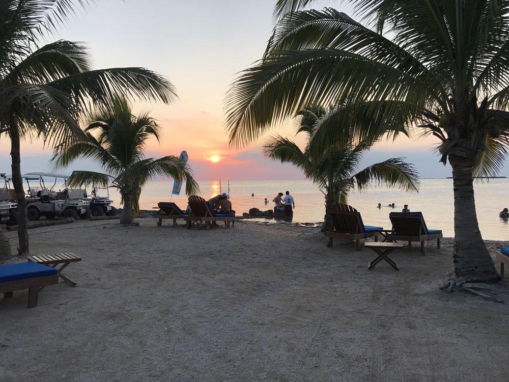 Sunset at Secret Paradise Beach Bar.