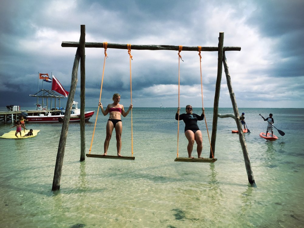 Swings, paddleboards, and floaty rafts!