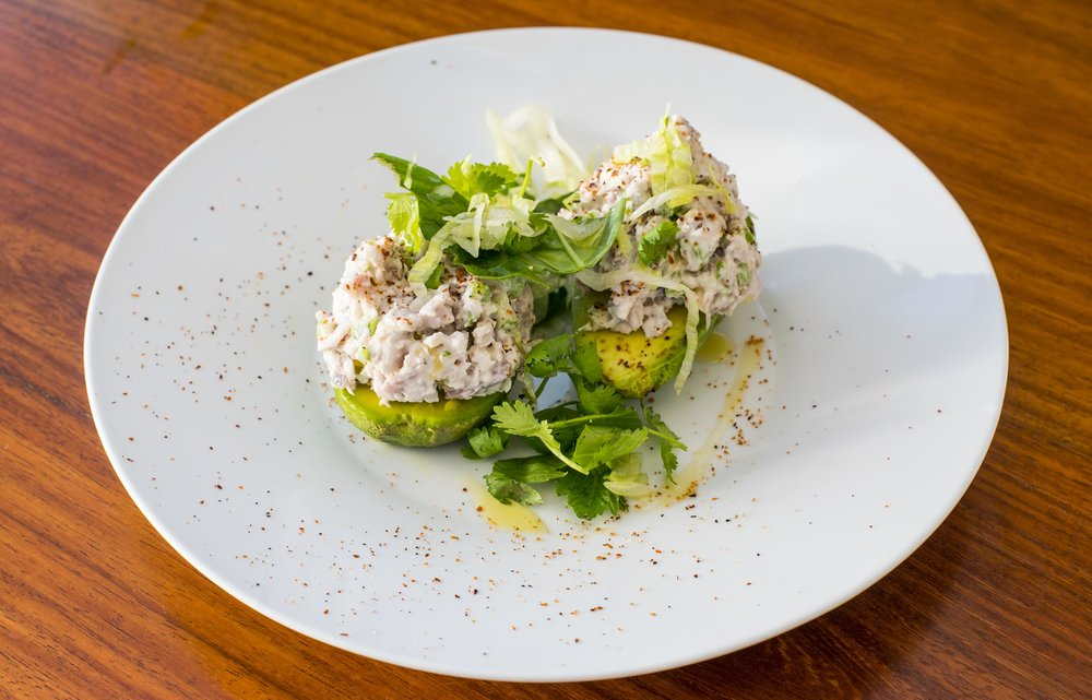 Shaken's Tuna Confit with Avocado, one of the many innovative dishes using local ingredients.