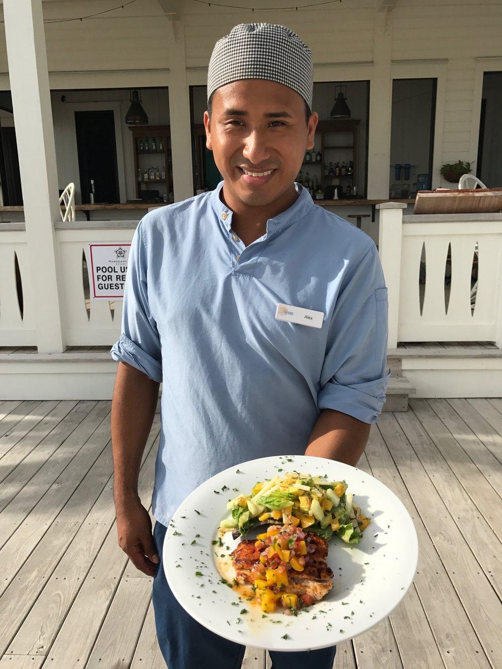 Alex Rodriguez, Sous Chef at Shaken, Mahogany Bay Village, Belize.