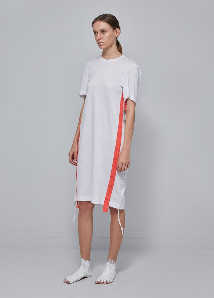 Oversized Strip Trimmed Dress (5I151250)
