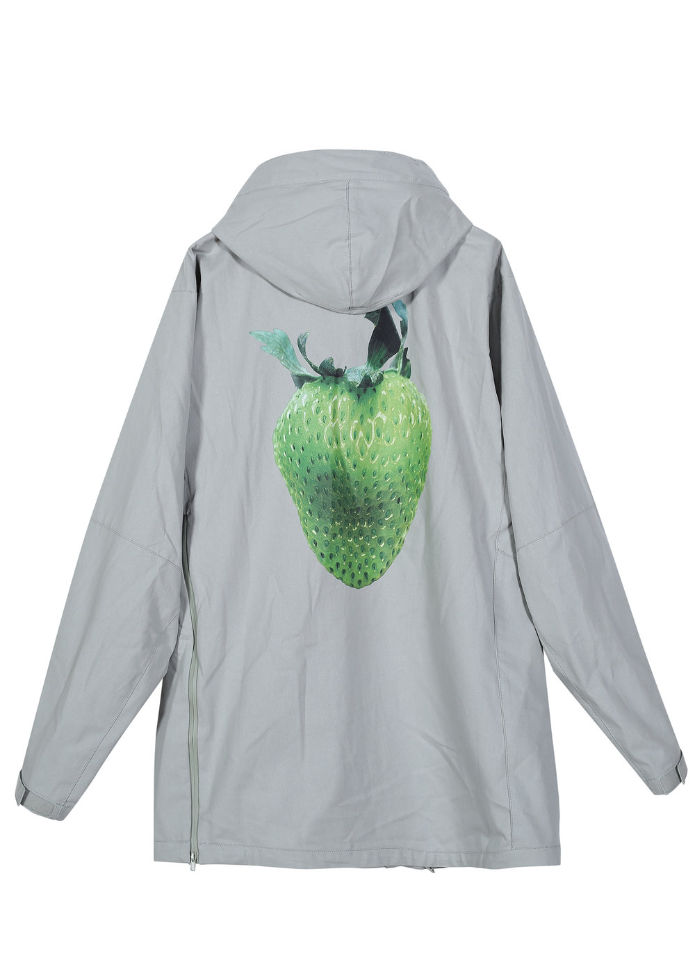 Strawberry-Print Hooded Jacket (5I122041)
