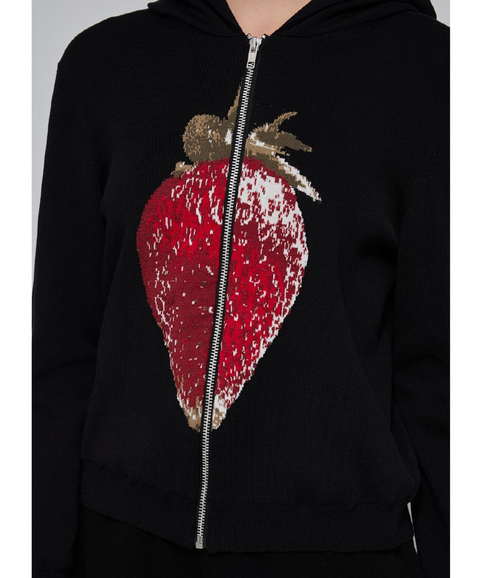 Knitted Strawberry Hooded Top (5I181026)