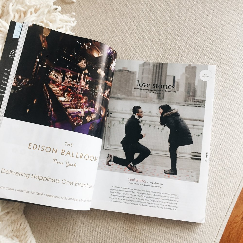 My work was recently featured in The Knot magazine