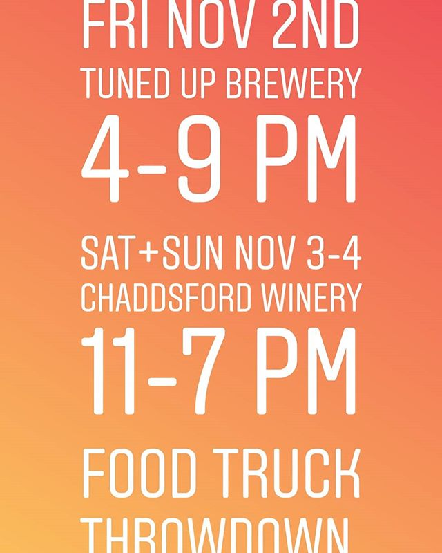 @chaddsfordwinery @tunedupbrew @thehappypita @theplumpitfoodtruck @nataliesfinefood @mamamiafoodtruck #thepolishconnection @thesweetestrosecupcakeco @milksugarcakes @i_dont_give_a_fork @chilinfoodcart @babybluesbbq