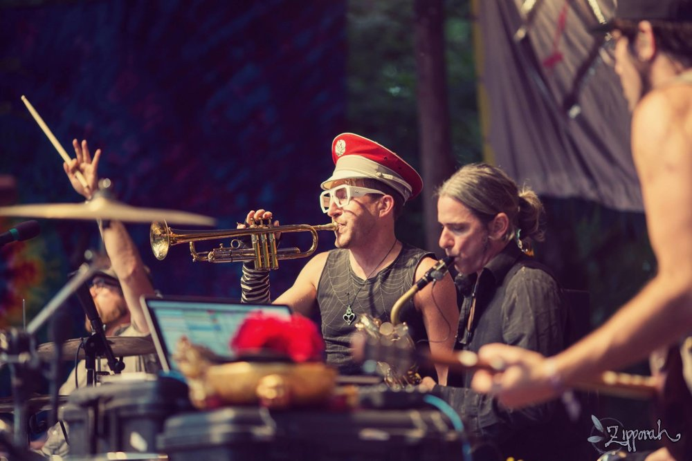 Performing with Beats Antique on the Main Stage at the Oregon Country Fair 2014    photo @ Zippy Lomax