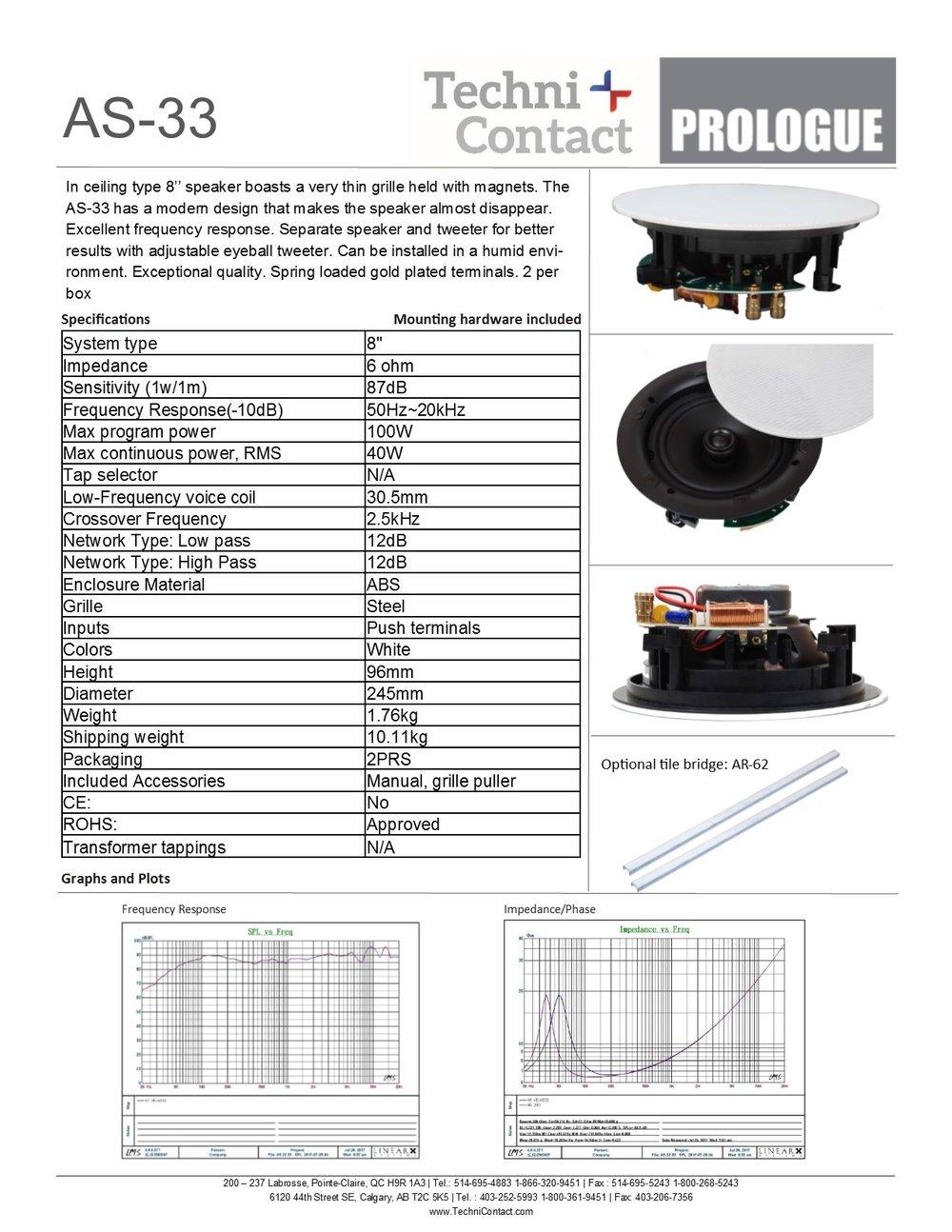 Specs Prologue Ceiling Speaker Wiring Diagram 6 As 33