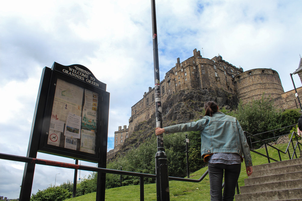 Taken by the lovely Sofaya Hussein during our trip to see the Edinburgh Girls in June.