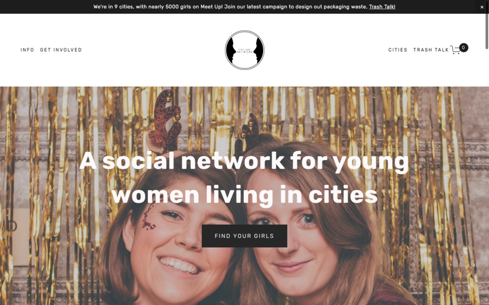 pippa says web design services squarespace city girl network