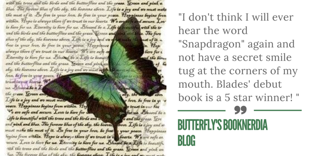 Reviews of Snapdragon by Kilby Blades - Butterfly's Booknerdia Blog