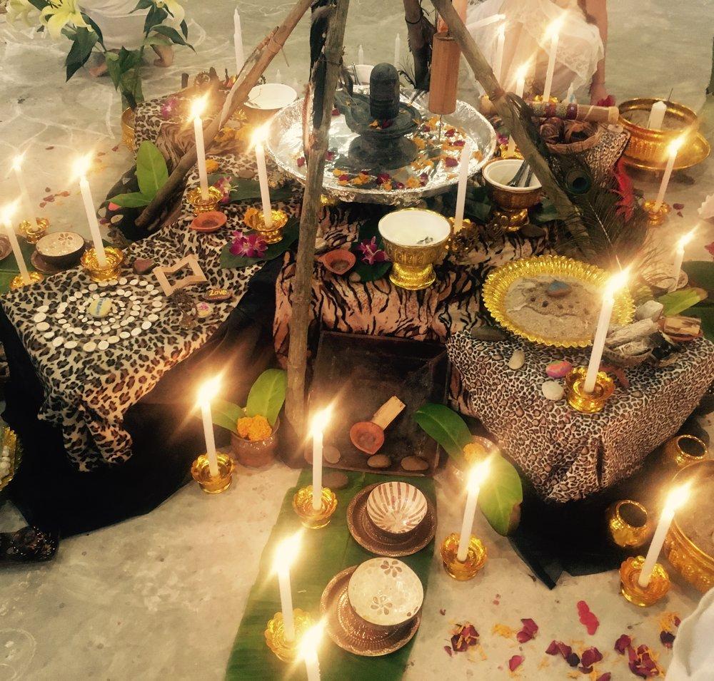 Our luscious sacred altar