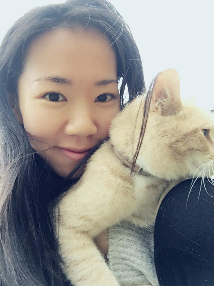 Morning walk with my guruji Cat