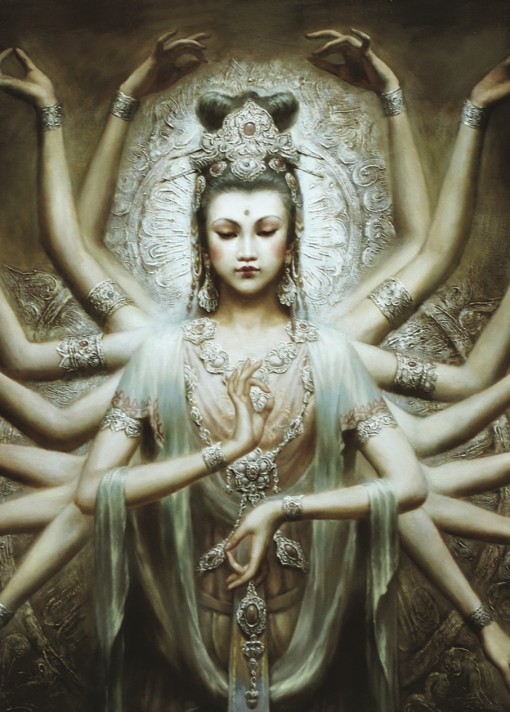 Guanyin,观音, the Goddess of Compassion
