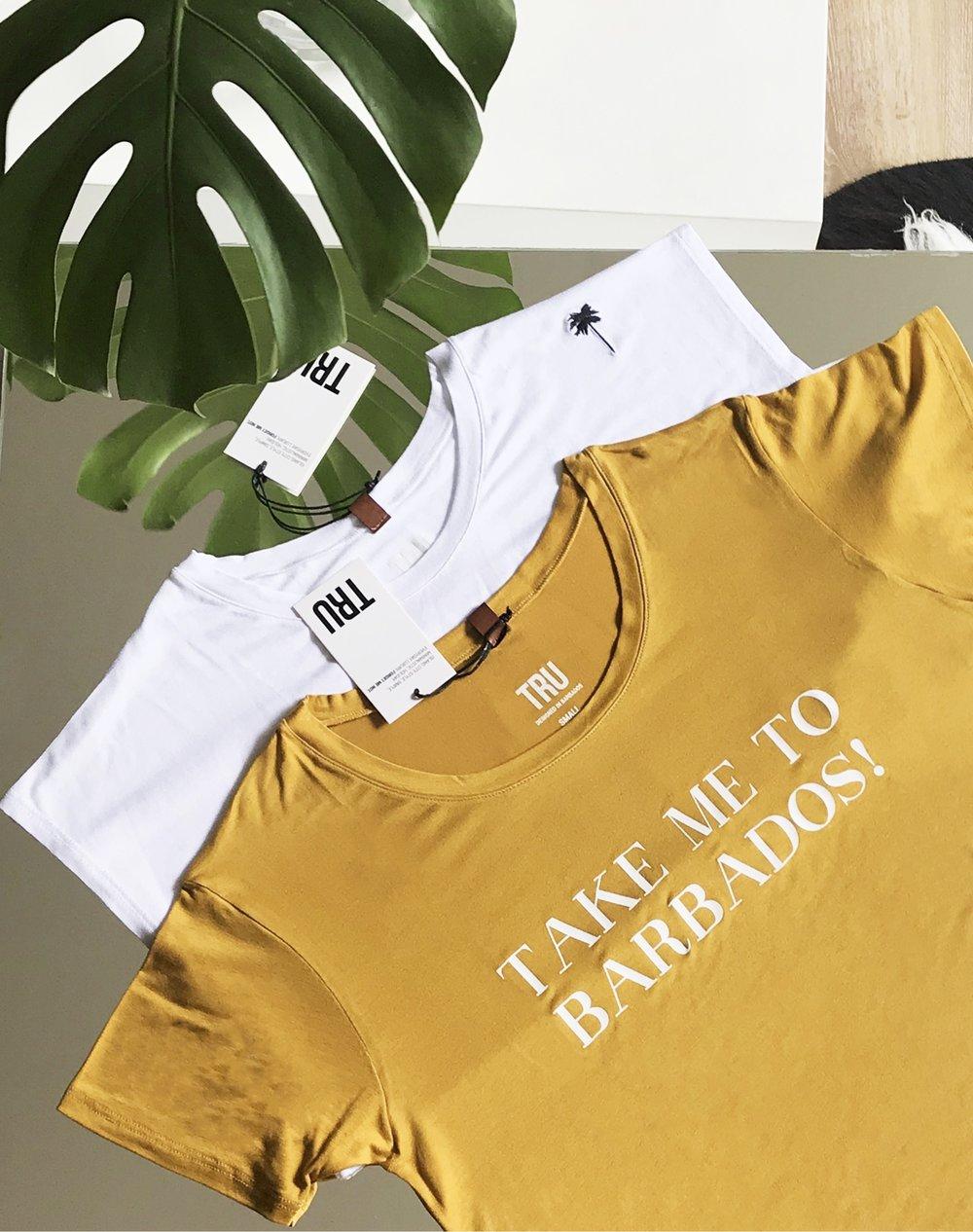 tees.trubarbados.tru.barbados.collection.clothing.brand.flatlay
