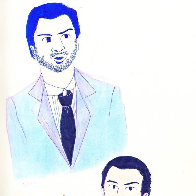 Watching Sherlock and sketching. . . . . . . . . . #illustration #copic #illustrator #illustratorsoninstagram #sketchbook #leuchtturm1917 #sketchoftheday #drawing #sherlock #pastel #illustrationoftheday #doodles #illustratorsofinstagram #drawings #moriarty #artistsoninstagram #sketchoftheday #artistsofinstagram  #illustrations #instaillustration #instagood #instaartist #sketch #drawings #muji #copicmarkers #doodle #dailydrawing #suit #sharpie