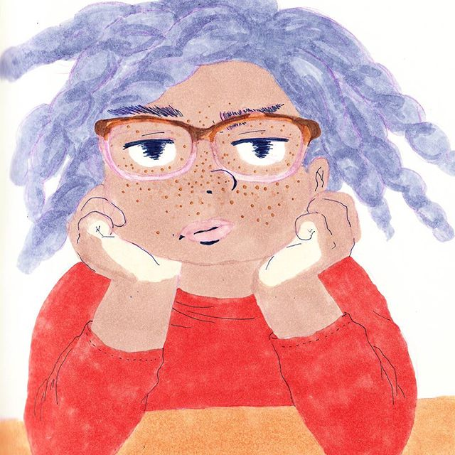 When you're just not sure what to draw next......hmm . . . . . . . . #illustration #copic #illustrator #illustratorsoninstagram #sketchbook #leuchtturm1917 #sketchoftheday #drawing #glasses #naturalhairjourney #illustrationoftheday #doodles #illustratorsofinstagram #drawings #artistsoninstagram #sketchoftheday #artistsofinstagram  #illustrations #instaillustration #instagood #instaartist #sketch #drawings #muji #copicmarkers #doodle #dailydrawing