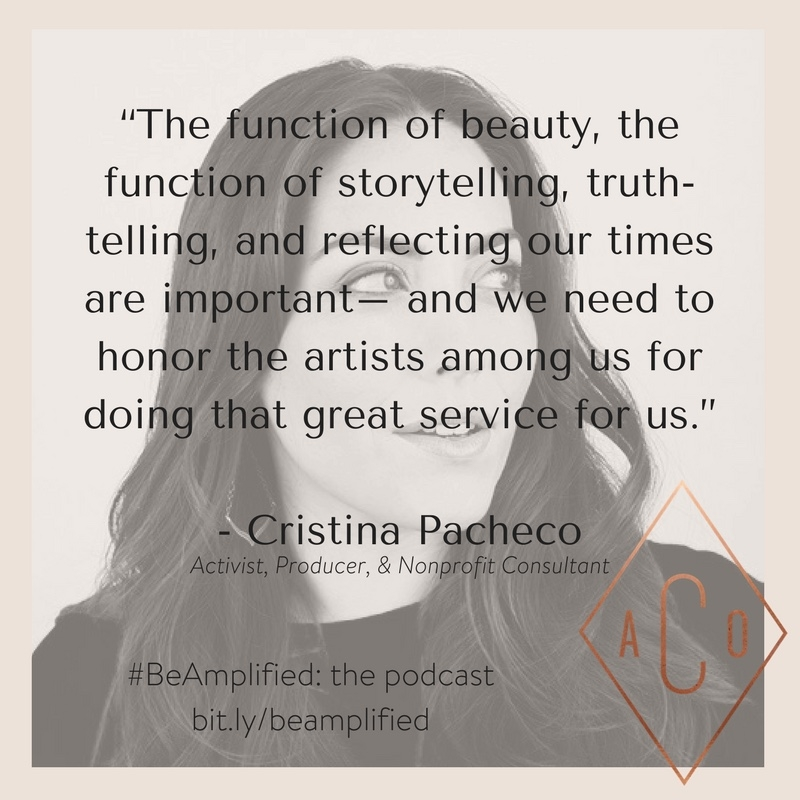 Cristina Pacheco{on how to be spiritual in a human world} - The Amplify Collective, May 2017Listen through the link below.