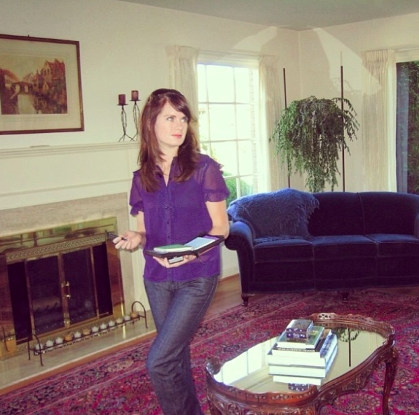Diligently house hunting in 2007, as a brunette. Oh, how I immediately fell in love with this home.