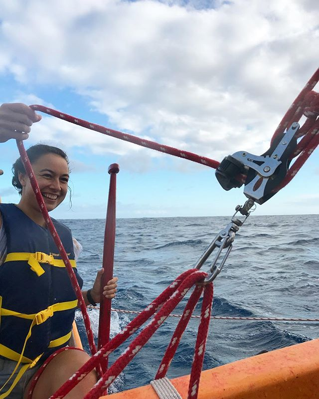 Training on the water with @nikaugabrielle for her up and coming  voyage from Aotearoa to Norfolk Island ⛰