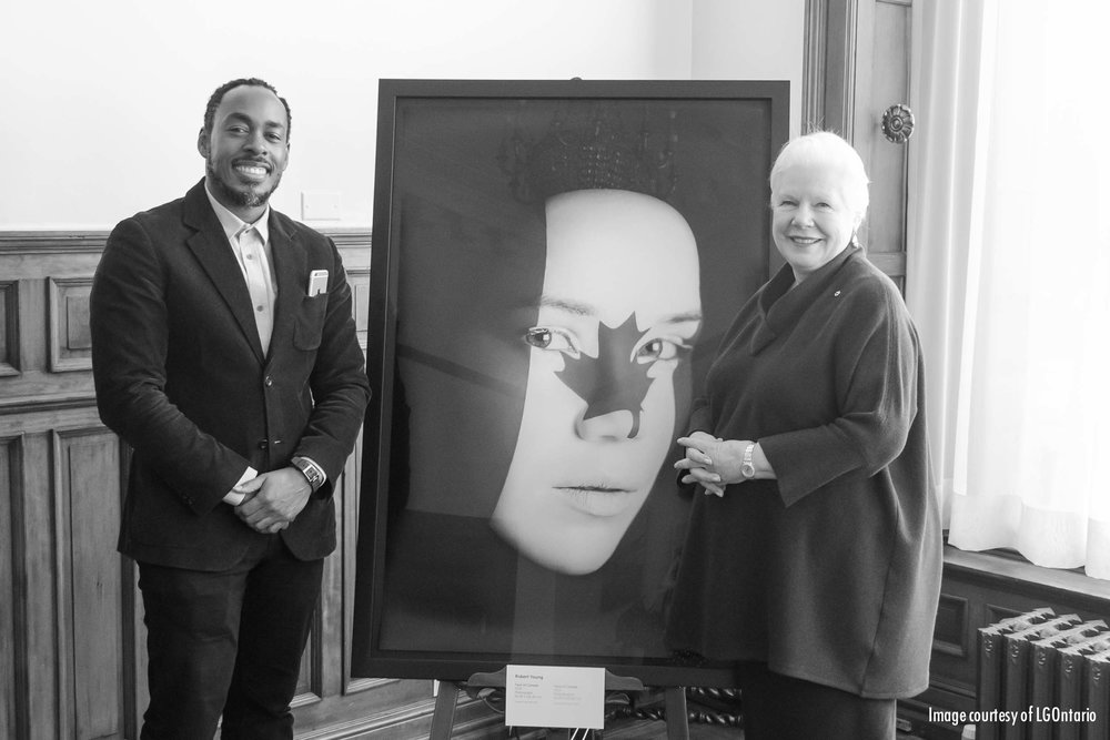 Her Honour Elizabeth Dowdeswell commissions Face Of Canada for display at her offices at Queens Park