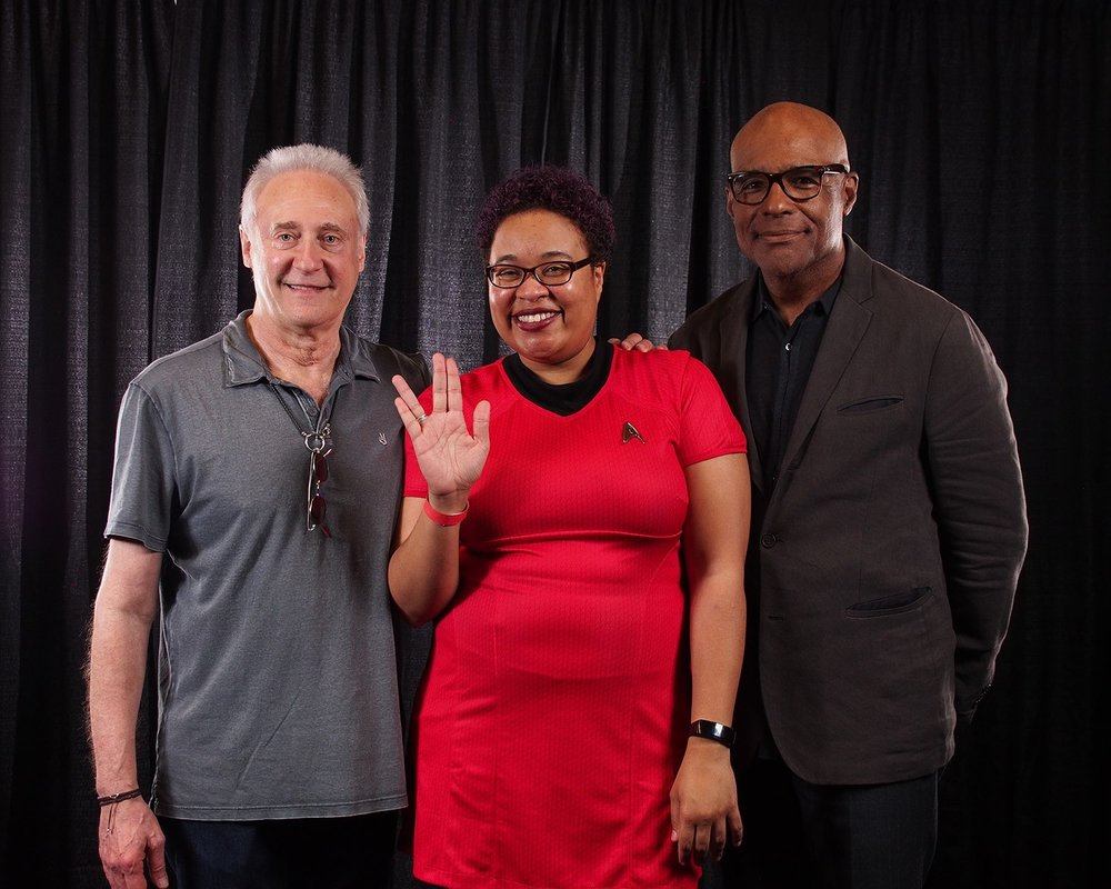 With Brent Spiner and Michael Dorn
