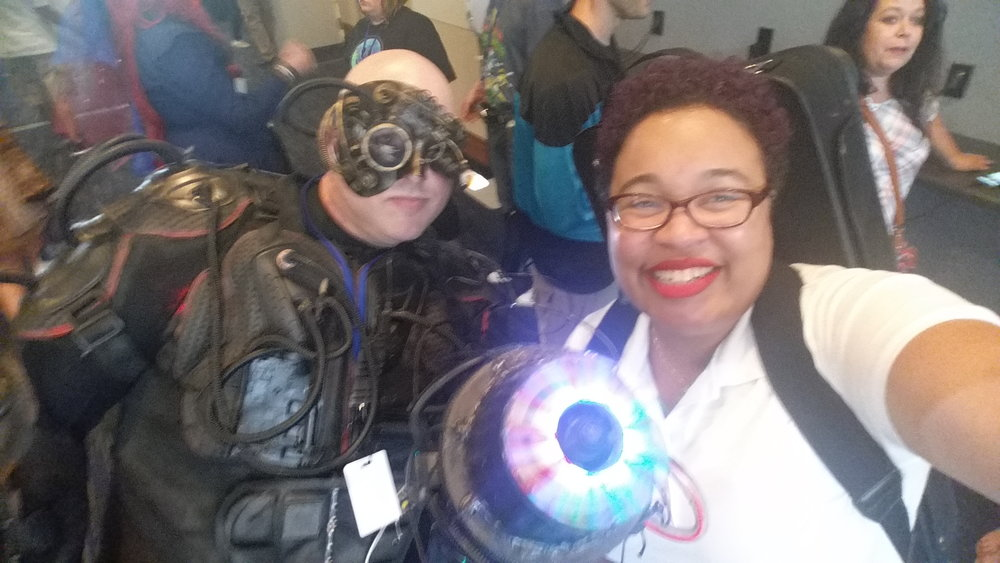 "The Borg (""Star Trek"") say ""resistance is futile"" but this one posed for a selfie and let me go unassimilated."