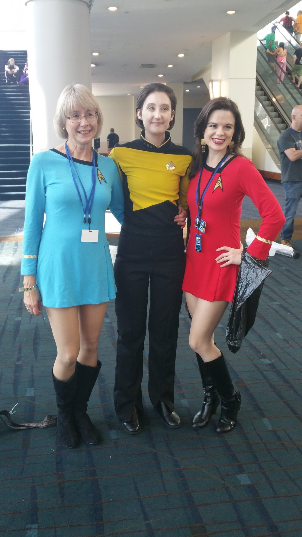Trekkie crew, L-R: Elizabeth, Brittany, and Mary Beth