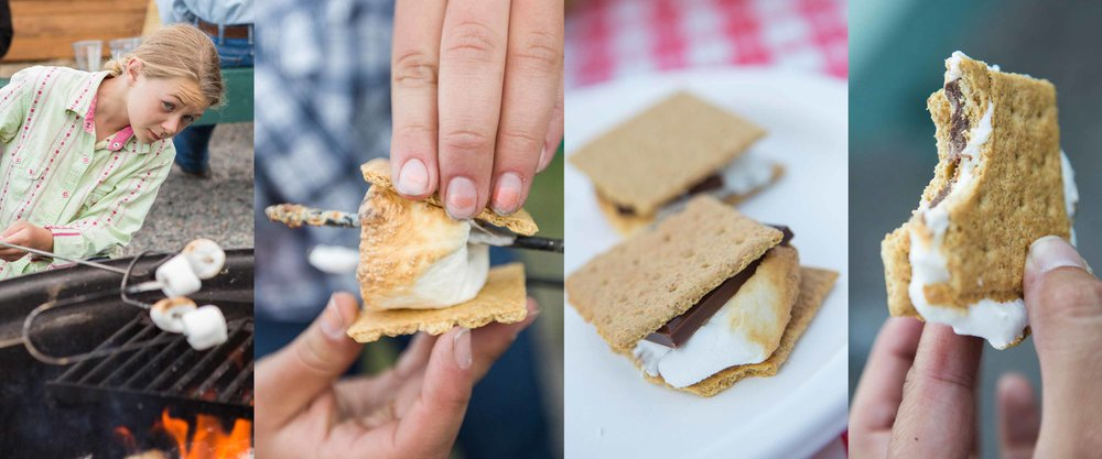 Vee Bar Dude Ranch Guests Cowgirl Campfire Smores Vacation.jpg
