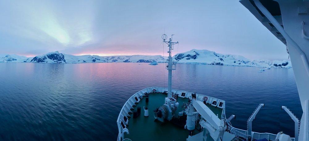 The Akedemik Vavilov, Wilhelmina Bay, Antarctica