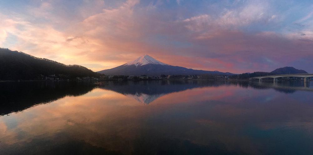 Fuji-san sunrise panorama
