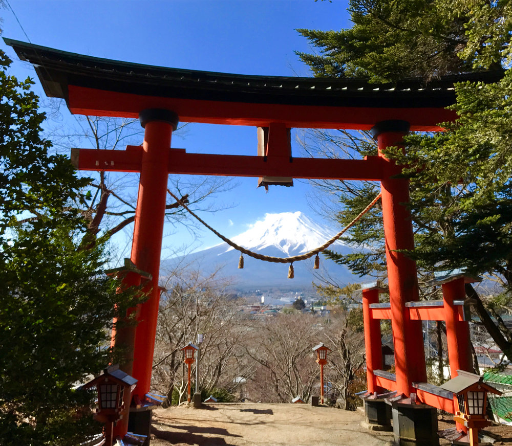 Fuji-san & the Arakura Fuji-Sengen-jinja Shrine