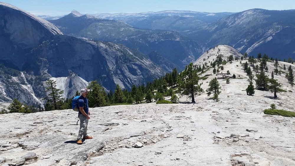 Looking out to North Dome, Yosemite National Park