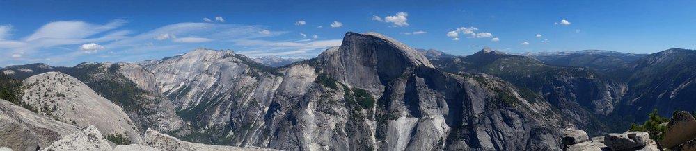 Half Dome panorama, Yosemite National Park