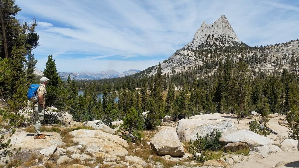 Cathedral Peak from the John Muir Trail,Yosemite National Park