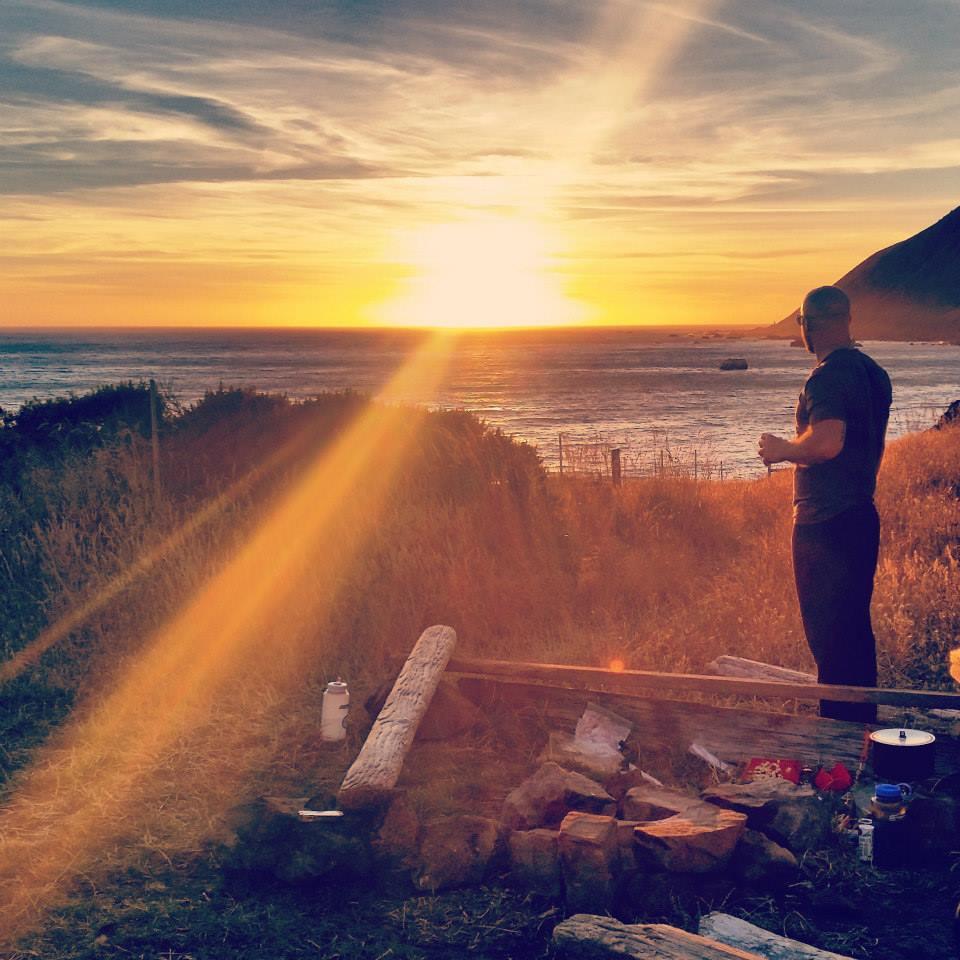 Unnamed campsite, Lost Coast Trail, California