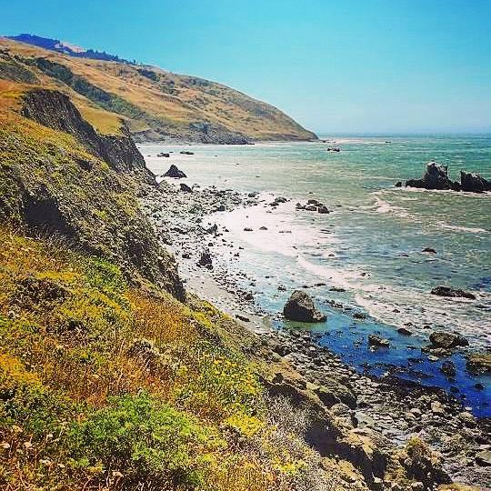 Beach of boulders, Lost Coast Trail, California